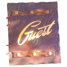 1950s 1960s Western Mid Century Hotel b&b guestbook note book