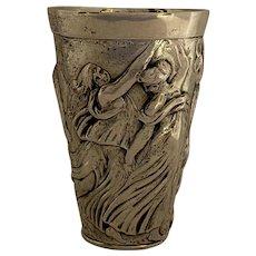 Elaborate Figural Italian .800 silver cup