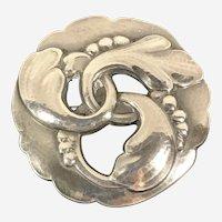 George Jensen sterling brooch #20