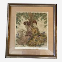 Elyse Ashe Lord drypoint etching