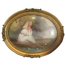 Doulton Burslem plaque of young girl