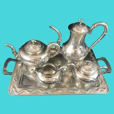 Magnificent Chinese silver export coffee/tea service