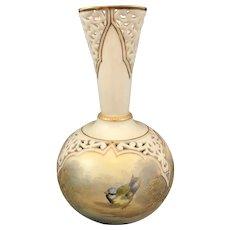Royal Worcester Grainger & Co. openwork vase