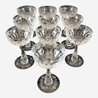 Hawkes Gravic Glass Set of 10 Champagne Glasses