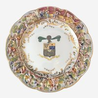 Capodimonte Plate with Armorial