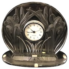 Lalique Iris Clock Working (new battery)