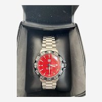 Tag Heuer Formula 1 Swiss Quartz Men's Watch With Red Face in Pristine Condition