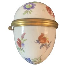Halcyon Days Enamel Egg Shaped Box - Great Florals & Charming