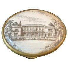 "Halcyon Days Enamel Oval Shape Box ""The Huntington Ball September 14th 1974"""