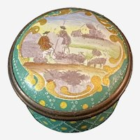 """Halcyon Days Enamel Box """"Shepherd"""" Replica of an 18th-century Example in the British Museum"""
