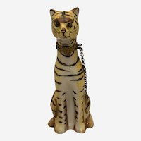 "Limoges Trinket Box ""A Tall Tiger"" Beautifully Modeled"