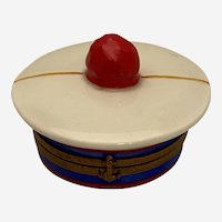 Limoges Trinket Box in the Form of a Sailor's Cap