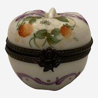 Limoges Trinket Box - Modeled as a Stawberry & Decorated With Strawberries