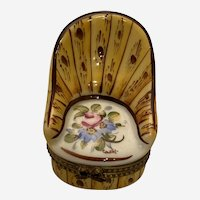 Limoges Trinket Box - Modeled as a Boudoir Chair