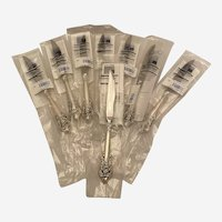 8 Wallace Grand Baroque Sterling Handle Steak Knives