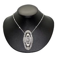 Art Deco Diamonds and Pearls Pendant