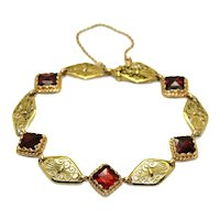 Antique Gold and Garnet Bracelet