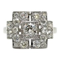 Art Deco diamonds ring, circa 1920
