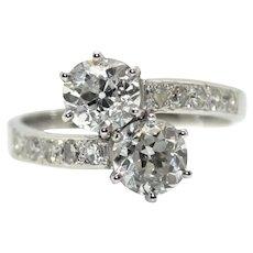 Diamonds Toi et Moi Ring - 1,80ct total