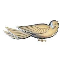 Coro Craft Sterling Silver Stylized Bird Brooch