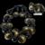 Angela Caputi Faux Tortoiseshell Parure Set Necklace, Bracelet, Earrings
