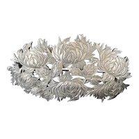Shiebler Sterling Chrysanthemum Brooch