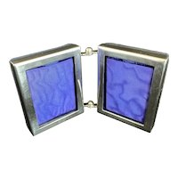 Currier and Roby Sterling Silver Miniature Double Frame