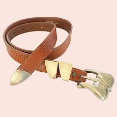 Barry Kieselstein Cord Sterling Buckle Belt