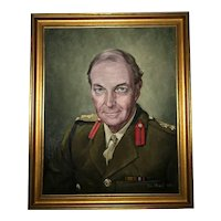 20th Century Portrait Oil Painting British Military Officer