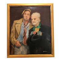 20th Century Oil Painting Portrait TV Sitcom Steptoe & Son