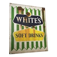 20th Century Lemonade R White's Soft Drinks Advertising Enamel Sign