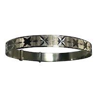 Fine Georg Jensen 925 Sterling Silver Bracelet Bangle Circa 1975