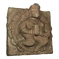 18th Century Architectural French Sculpture Carved Stone King Corbel Plaque