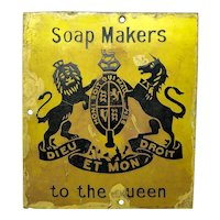 Advertising Soap Makers To The Queen Royal Warrant Enamel Sign