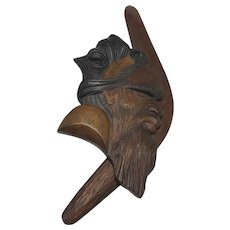 Rare Tribal Australian Sculpture Signed Boomerang Plaque Circa 1980's