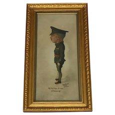 20th Century English Portrait Painting WW1 Military Sergeant Major Watercolour