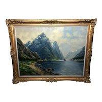 Fine Oil Painting Impressionism Norwegian Fjord
