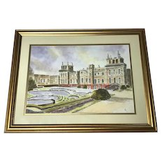 English 20th Century Impressionism Watercolour Painting Blenheim Palace
