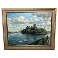 Oil Painting Welsh Marine Historic Pembroke Castle By Eric Windale