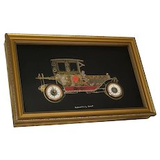Vintage Handmade Packard 1911 Model Car Clock Sculpture Wall Hanging Plaque