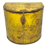 Wolseley Early 20th Century Small Curved Yellow Classic Car Battery Container