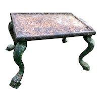 French 18th Century Georgian Grand Tour Garden Cast Iron Plinth Table Claw Feet