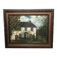 Oil Painting Greenend Cottage Hawkshead Lake District Mary Bradley