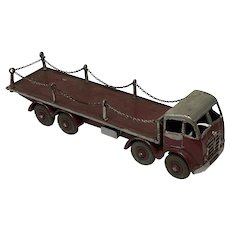 Dinky Model Toy Foden 8 Wheel Transporter Flatbed Maroon Truck With Chains
