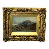 "Oil Painting ""Bonnie Prince Charlie Crossing To Skye"" Clarkson Frederick Stanfield RA RBA"