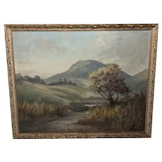 Fine Oil Painting English Landscape Circa 1930's Listed George R Waterfield