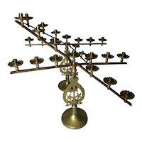 Pair Fine Antique French 19th Century Alter Brass Candlesticks