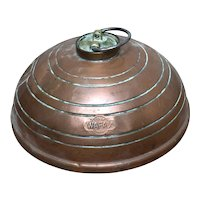 Vintage 20th Century Copper Wafax Bed Warmer
