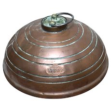 Vintage 20th Century Copper Wafax Bed Warmer