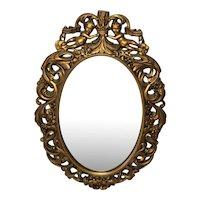 Vintage 20th Century E Gomme Gilt Crown Cherubs Wall Mirror